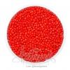 ลูกปัดเม็ดทราย 12/0 โทนด้าน สีแดง (100 กรัม)