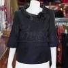 เสื้อผ้าฝ้ายสุโขทัยสีดำ ปกผ้าแก้ว ไซส์ 2XL