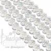 คริสตัลโมดาห์ 8มม. ทรงซาลาเปา สีขาว (72 เม็ด)