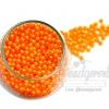 ลูกปัดมุกพลาสติก 4มิล สีส้ม (120 กรัม)