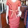 ชุดเสื้อกระโปรงผ้าฝ้ายสุโขทัยแต่งดอกกุหลาบ ไซส์ L
