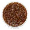 ลูกปัดเม็ดทราย 12/0 โทนรุ้ง สีน้ำตาล (15 กรัม)