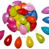 จี้อะคริลิค 14*24มม. ทรงหยดน้ำ คละสีสด (15 กรัม)