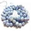 หิน Blue Lace Agate 10มิล (38 เม็ด)