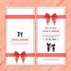 การ์ดแต่งงาน Wedding card สไตล์การออกแบบดีไซน์แบบเรียบๆแล้วนำเอาแมวน้อยมาเป็นพยานรักในการ์ดแต่งงาน การ์ดงานแต่ง ไว้สำหรับ เรียนเชิญแขกผู้มีเกียรติเข้ามาร่วมงานแต่งงาน // ตัวอย่างดีไซน์ การ์ดแต่งงาน การ์ดเชิญ การ์ดสวยๆ
