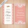 การ์ดแต่งงาน Wedding card สไตล์การออกแบบดีไซน์โดยใช้สีขาวตัดกับสีชมพูและจัดวางตัวอักษรไว้ตรงกลางทำให้ดูลงตัวสุดๆ การ์ดงานแต่ง ไว้สำหรับ เรียนเชิญแขกผู้มีเกียรติเข้ามาร่วมงานแต่งงาน // ตัวอย่างดีไซน์ การ์ดแต่งงาน การ์ดเชิญ การ์ดสวยๆ