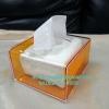 กล่องทิชชูป๊อบอัพ สีส้มโปร่ง