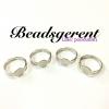 ตัวเรือนแหวน แบบแปะ freesize สีนิกเกิ้ล (30 ชิ้น)