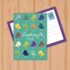 โปสการ์ด Postcard สไตล์การออกแบบดีไซน์โดยใช้กราฟิกลายนกหลากสีทำให้โปสการ์ดดูโดดเด่นมากขึ้น โปสการ์ด ไว้สำหรับ ส่งบทความถึงคนสำคัญ // ตัวอย่างดีไซน์ โปสการ์ด Postcard พิมพ์โปสการ์ด โปสการ์ดสวยๆ Chill Shop Package