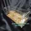 กล่องอครีลิค ใส่อาหารนกแบบ 3 ช่อง