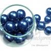 ลูกปัดมุกพลาสติก 16มิล สีน้ำเงิน (120 กรัม)