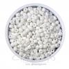 ลูกปัดเม็ดทราย 6/0 โทนด้าน สีขาว (100 กรัม)