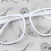 แว่นตาแฟชั่นเกาหลี สีขาว (พร้อมเลนส์)