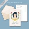 โปสการ์ด Postcard สไตล์การออกแบบดีไซน์ด้วยกราฟิกสไตล์วินเทจด้วยรูปหน้าคนอย่างสวยงามลงตัว โปสการ์ด ไว้สำหรับ ส่งบทความถึงคนสำคัญ // ตัวอย่างดีไซน์ โปสการ์ด Postcard พิมพ์โปสการ์ด โปสการ์ดสวยๆ Chill Shop Package