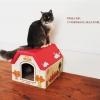 MU0001 CAT HOUSE บ้านกระดาษแมวน้อย แข็งแรงทนทาน หลังคารับน้ำหนักแมวตัวใหญ่ได้ ยี่ห้อ TADA