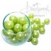 ลูกปัดมุกพลาสติก 16มิล สีเขียวตอง (120 กรัม)