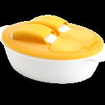 KK-05 ช้อนส้อมและชามรุ่น Mealtime Combo (ส้ม)