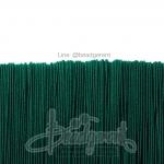 ยางยืด เส้นกลม 1มม. สีเขียวคริสมาส (144 หลา)