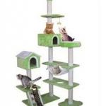 MU0115 คอนโดแมวหกชั้น ต้นไม้แมว บ้านอุโมงค์2 หลัง บันไดปีนป่าย ของเล่นแขวน สูง 240-260cm