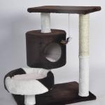 MU0054 คอนโดแมวสามชั้น ต้นไม้แมว มีบ้านอุโมงค์ ของเล่นแขวน สูง 75 cm