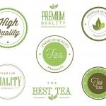 ฉลากป้ายประชาสัมพันธ์ สไตล์การออกแบบดีไซน์แบบเรียบๆแต่มีสไตล์ ฉลากไว้ใช้แปะกับสินค้าเกี่ยวกับธุรกิจจำหน่ายชา // ตัวอย่างดีไซน์ สติ๊กเกอร์ฉลาก Chill Shop Package