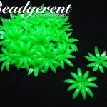 ดอกพิกุลพลาสติก 35มม. สีเขียว (10 กรัม)