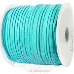 เชือกหนังซามัวร์ 3มม. สีฟ้าสว่าง (100 หลา)