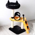 คอนโดแมว ต้นไม้แมว กระบะนอนพักผ่อนรูปหน้าแมว บันไดปีนป่าย กล่องบ้านอุโมงค์ เฉด 2 สี สูง 76 cm