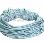 ยางยืด เส้นกลม 1มม. สีฟ้าพาสเทล (10 หลา)
