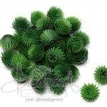 ดอกบานไม่รู้โรย พลาสติก 13*15มม. สีเขียวเข้ม (10 กรัม)