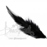 ขนนก 13ซม. สีดำ (15 ชิ้น)