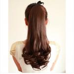hair piece ทนความร้อนเกาหลี(สีน้ำตาล)