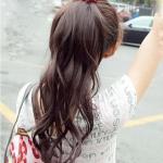hair piece ทนความร้อนเกาหลี(สีน้ำตาลเข้ม)