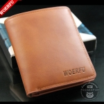 กระเป๋าสตางค์ผู้ชาย WF-002 [สีน้ำตาล]