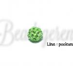 ลูกปัดฝังเพชร 8มม. สีเขียวอ่อน (1 ชิ้น)
