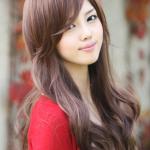 วิกผมยาวดันลอน แนวเกาหลี สไตล์น่ารักฟินๆ (สีน้ำตาลเข้ม)