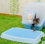 ถาดดักทรายแมว สำหรับวางไว้หน้าห้องน้ำแมว เพื่อความสะอาดสำหรับคนขี้เกียจล้างพื้นล้างห้องน้ำ