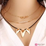 สร้อยคอ Multilayer triangular chain V2