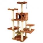 MU0094 คอนโดแมวห้าชั้น ต้นไม้แมวขนาดใหญ่ เปลนอนพักผ่อน ของเล่นแขวน อุโมงค์บ้าน สูง 160 CM