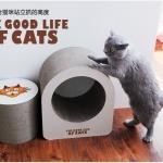 ของเล่นแมว ที่ลับเล็บแมวลูกฟูก รูปทรงกลม