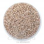 ลูกปัดเม็ดทราย 12/0 โทนมุกด้าน สีเนื้อ (15 กรัม)