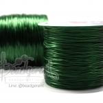 เอ็นไหมยืด ตราเพชร สีเขียวเข้ม (100 เมตร)