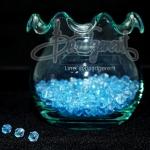 คริสตัลพลาสติก 4มิล สีฟ้า (500 กรัม)