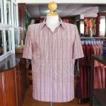 เสื้อสูทผ้าฝ้ายลายก้านมะลิ ไซส์ 2XL