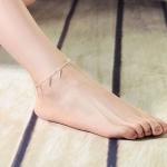 สร้อยข้อเท้าเกาหลีประดับเข็มสีเงิน