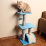 คอนโดแมว ที่ลับเล็บแมว ขนาดกระทัดรัด สีฟ้า