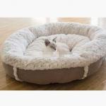 ที่นอนหมาแมวทรงกลมขนาดใหญ่ นุ่มฟูน่านอน