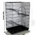 กรงแมว 3 ชั้น มีบันไดและประตูเปิดได้ทุกชั้น มีล้อเคลื่อนย้ายง่าย สูง 130 cm หนัก 21 kg