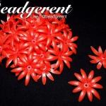 ดอกพิกุลพลาสติก 35มม. สีแดง (165 กรัม)