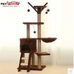 คอนโดแมว บ้านแมว บันไดปีนออกกำลังกาย กระบะนอนพักผ่อน สูง 138 cm